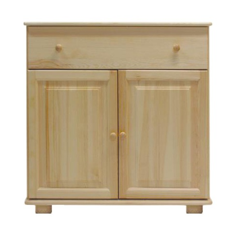 Sideboard 048 2 Door 1 Drawer Solid Pine Wood Clearly