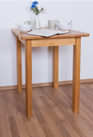 Table Pine Solid wood Alder color Junco 233A (angular) - 60 x 60 cm (W x D)