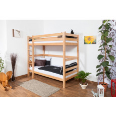 Bunk bed Thomas, solid beech wood, convertible, incl. slatted bed frames – 90 cm x 200 cm