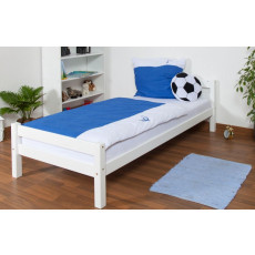 Single bed / Youth bed Markus, solid beech wood, white finish, incl. slatted bed frame - 90 x 200 cm