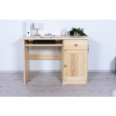 Desk solid, natural pine wood Junco 190 - Dimensions 75 x 110 x 55 cm