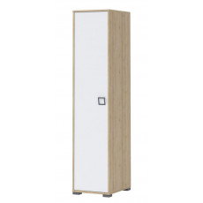 Child room - Wardrobe Benjamin 10, Colour: Ash/White - Dimensions: 198 x 44 x 56 cm (H x W x D)