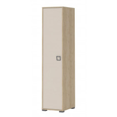 Wardrobe 10, Colour: Ash/Cream - Dimensions: 198 x 44 x 56 cm (H x W x D)