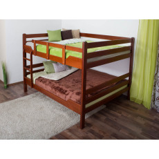 Bunk beds ' Easy Premium Line ® ' K16/n, head and foot part straight, solid beech wood cherry tree color - lying surface: 160 x 200 cm, divisible