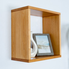 Hanging rack/wall shelf pine solid wood Alder color Junco 291A - 40 x 40 x 20 cm (h x W x d)