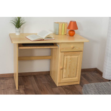 Desk solid, natural pine wood 002 - Dimensions 74 x 115 x 55 cm (H x B x T)