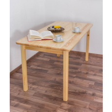 Dining Table 001, solid pine wood, clearly varnished  - H75 x W150 x D75 cm