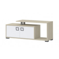 Child's bedroom TV cabinet Benjamin 31, Color: Ash/White - Dimensions: 49 x 120 x 37 cm (H x W x D)