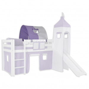 1 tunnel for high and bunk beds - Farbe:Lila/Weiß