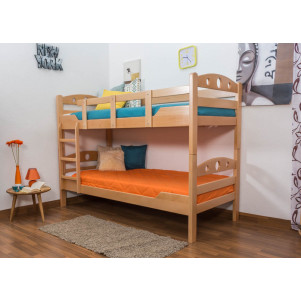 """Bunk bed """"Easy Furniture"""" K11/n, solid beech wood, clearly varnished, convertible - 90 x 200 cm"""