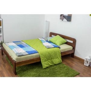 Children's bed / Youth bed A5, solid pine wood, nut finish, incl. slatted frame - 140 x 200 cm
