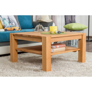 Coffee table Wooden Nature 421 Solid Beech - 80 x 80 x 45 cm (W x D x H)