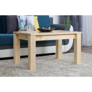 Coffee table solid, natural pine wood Junco 484 – Dimensions 50 x 90 x 60 cm