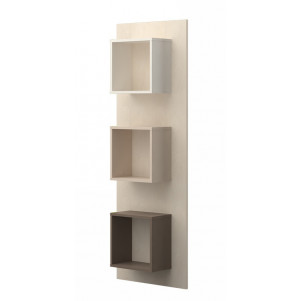 Wall Shelf for teenager's room Matthias 05, Colour: Cream/Cappuccino - Dimensions: 172 x 58 x 22 cm (H x W x D)