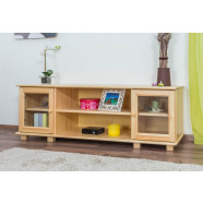 TV subcabinet pine solid wood natural 004 - Dimensions 55 x 156 x 47 cm ( H x W x D)