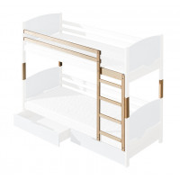 Bunk Bed set for children's room Milo 30, solid wood - Colour: Natural