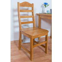 Chair solid pine wood Color: Alder Junco 245 - Dimensions : 100 x 44.50 x 43.50 cm (H x W x D)