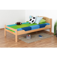 Kid / youth bed ' Easy Premium Line ® ' K1/Voll 90 x 190 cm solid beech wood natural