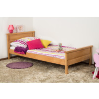Kid/youth bed Wooden Nature 141 Solid Beech natural - 90 x 200 cm (W x D)