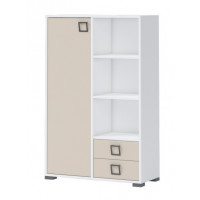 Child's room dresser Benjamin 26, Colour: white/cream - Dimensions: 134 x 86 x 37 cm (H x W x D)