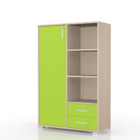 Kids room - Dresser Benjamin 26, colour: Ash/green- Dimensions: 134 x 86 x 37 cm (H x W x D)